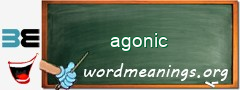 WordMeaning blackboard for agonic